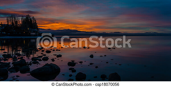 Sunrise on North Lake Tahoe - csp18070056