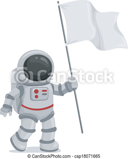 Astronaut Waving Flag - csp18071665