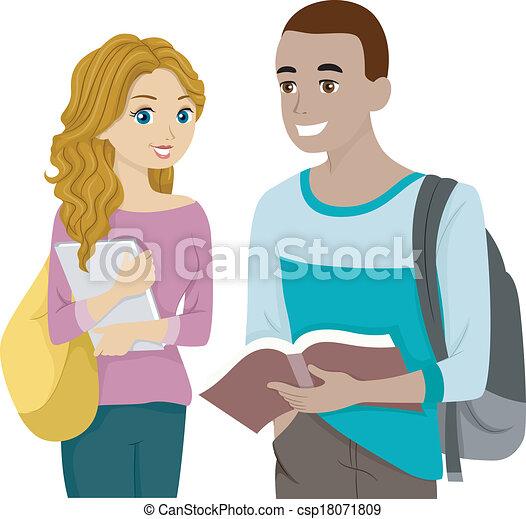Resultado de imagen para Caricatura de adolescentes estudiando
