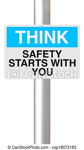 começa, tu, segurança - csp18072183