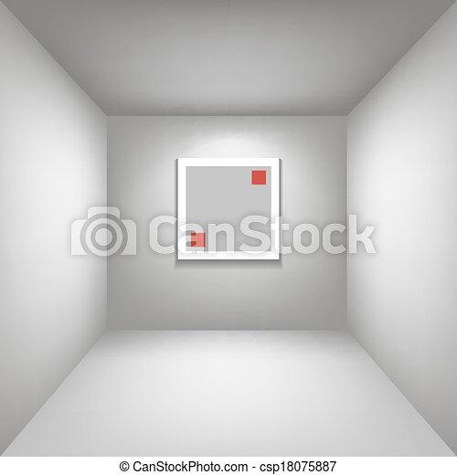 Vetor de branca galeria sala fundo perspectiva whith for Sala de estar 3x5