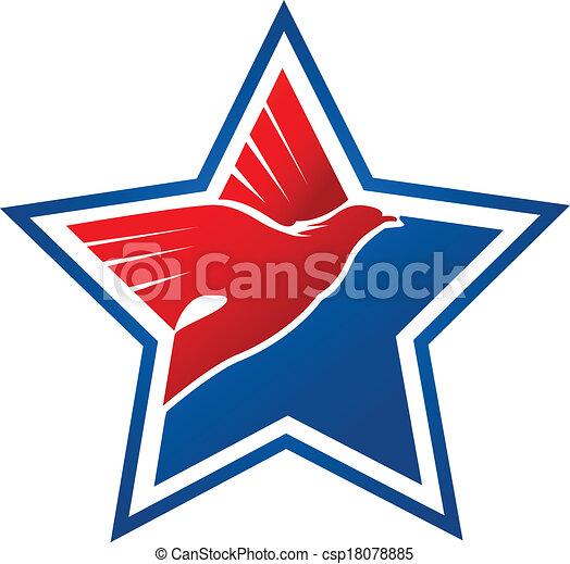 American flag-eagle logo - csp18078885