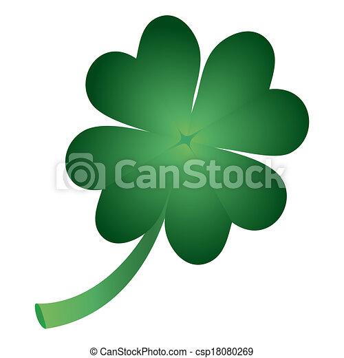clover symbol of St. Patrick's Day - csp18080269