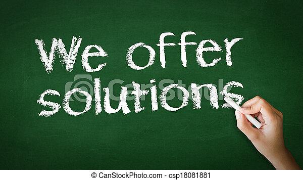 We offer Solutions Chalk Illustration - csp18081881