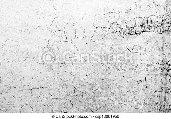 The Background from high detailed fragment stone white wall - csp18081950