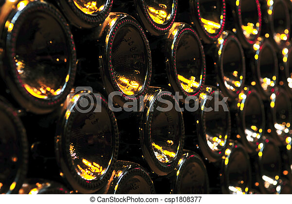 Wine bottles - csp1808377
