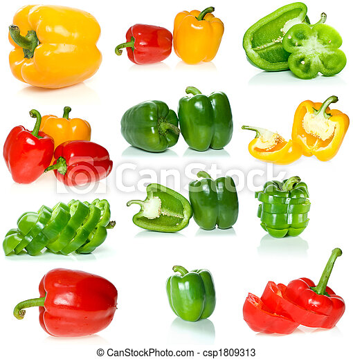 Set of different sweet peppers - csp1809313