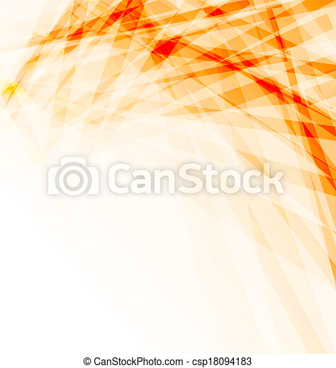 Orange business brochure, abstract background - csp18094183