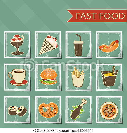 Fast Icon Design Flat Design Retro Style Fast