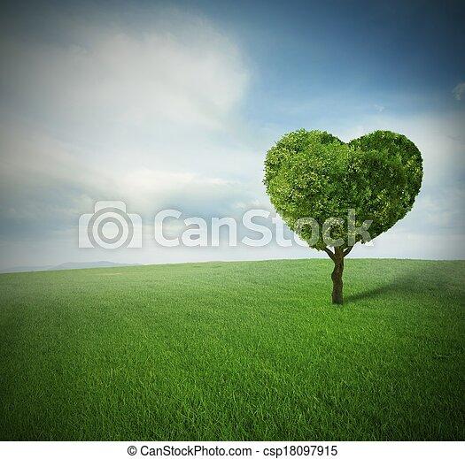 心, 樹 - csp18097915