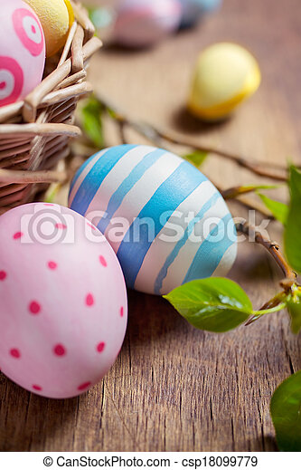 Colorful Easter eggs - csp18099779