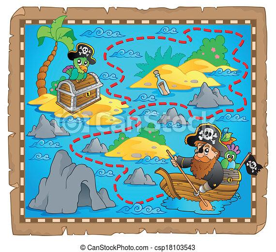 Treasure map theme image 7 - csp18103543
