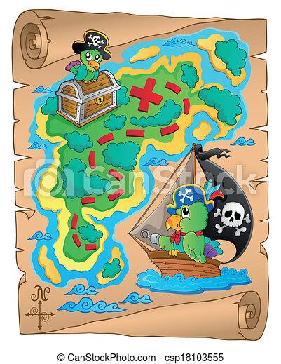 Treasure map theme image 8 - csp18103555