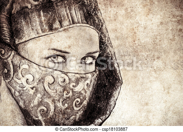 Stock Illustration of Sketch made with digital tablet of arabic ...