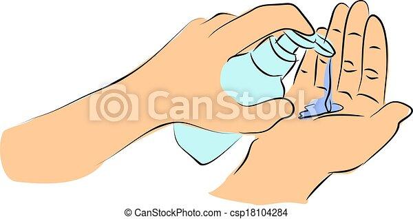 Illustration de lavage savon main lavage ton mains - Coloriage lavage des mains ...