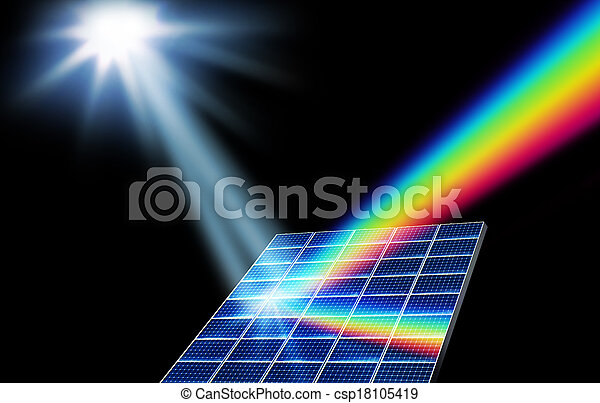Solar energy renewable energy concept - csp18105419