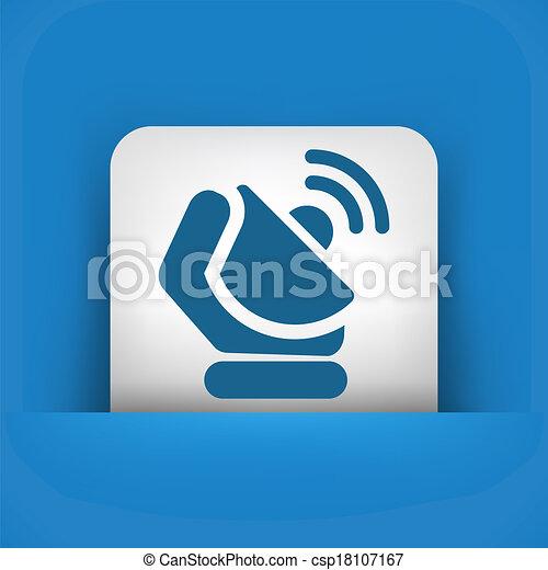 Antenna icon - csp18107167