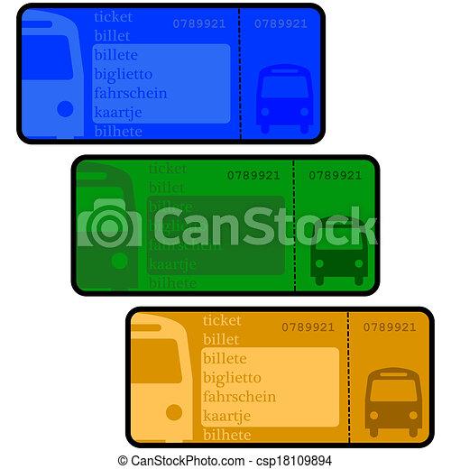 Vector - Bus tickets - stock illustration, royalty free illustrations ...