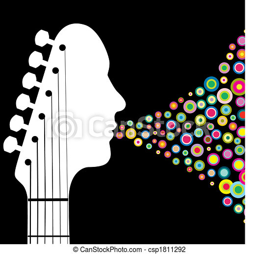 Guitar headstock man - csp1811292