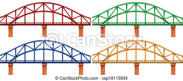Four colorful bridges - csp18115934