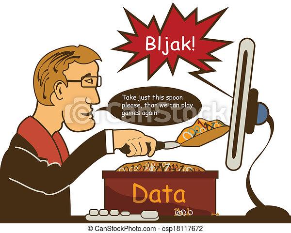 Manual Data Entry Clip Art