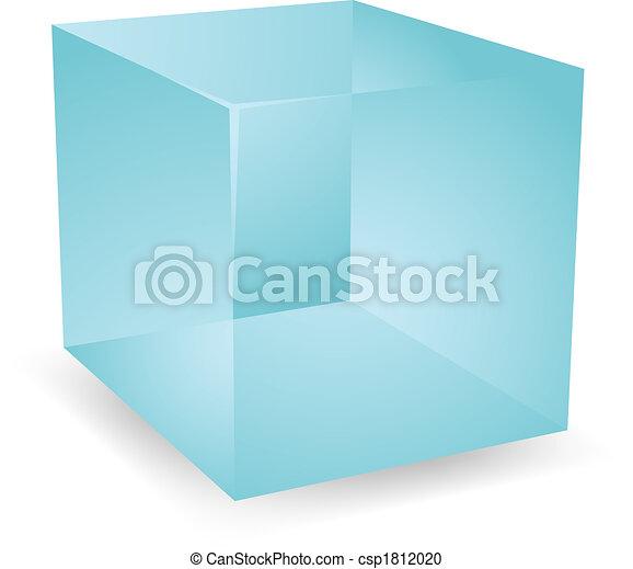 3d Translucent cubes - csp1812020