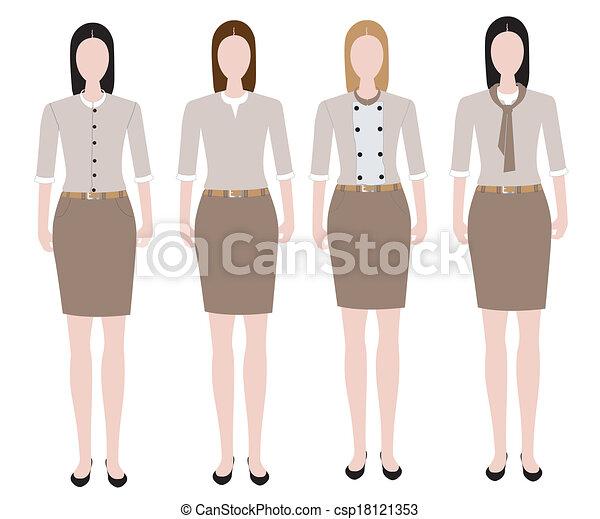Clipart Vector Of Woman In Uniform Design Woman In