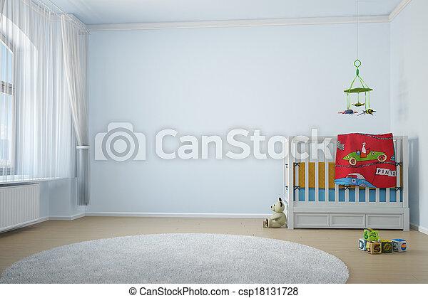 Nursery room with crip - csp18131728