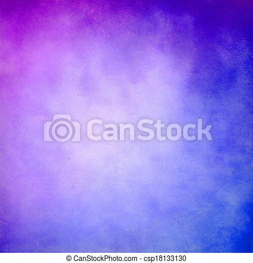 Purple and blue abstract grunge background - csp18133130