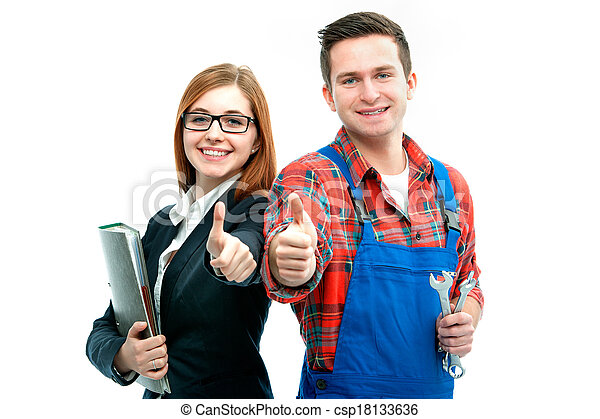 Apprentices for handyman and office - csp18133636