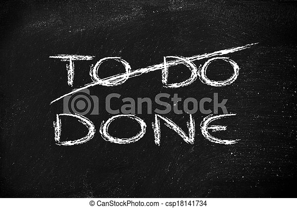 the words To Do deleted and replaced by Done - csp18141734