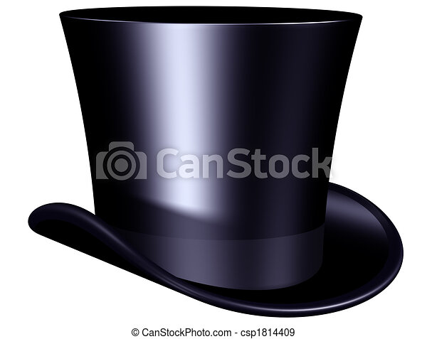 Elegant top hat - csp1814409
