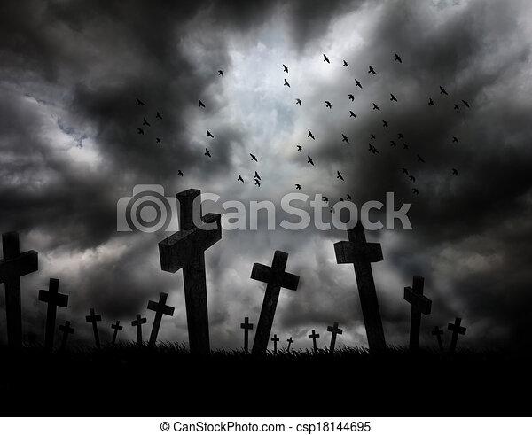 Illustration de sombre paysage apocalypse gloomy - Dessin sombre ...