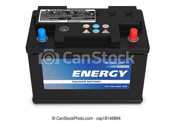 Black automobile battery - csp18146894