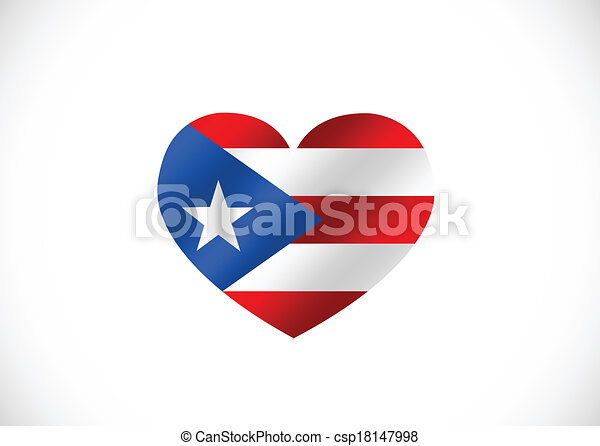 Puerto Rico flag themes idea design - csp18147998