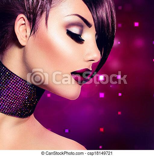 Holiday Woman Make up. Fashion Beauty Fashion Girl - csp18149721