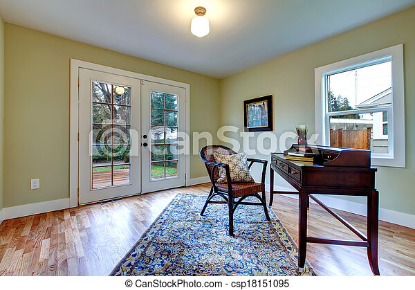 Classic living room with antique desk - csp18151095