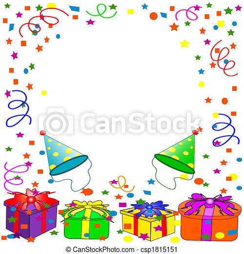 compleanno, fondo, felice - csp1815151