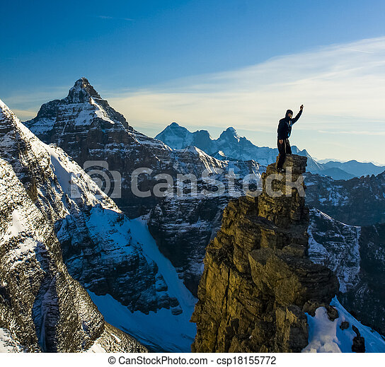 Mountaineer High in the Mountains of Canada - csp18155772