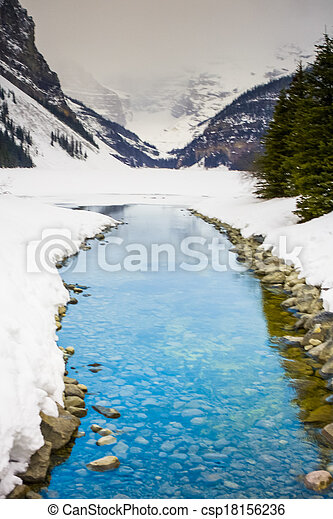 Blue Creek from Lake Louise - csp18156236
