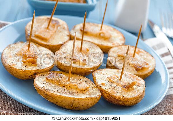 Baked potato - csp18159821