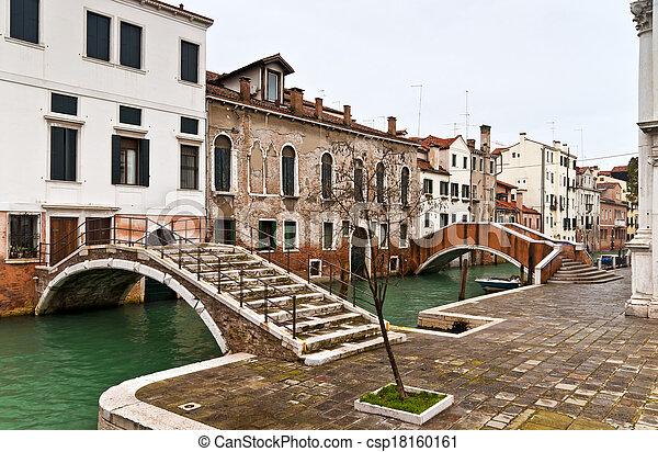 Venice Castello bridges - csp18160161