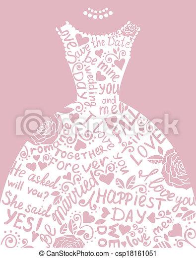 Clipart vector of wedding invitation with beautiful elegant wedding