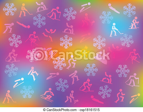 winter sports background