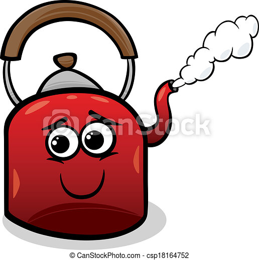 Kettle Steam Clipart Vector - kettle and steam