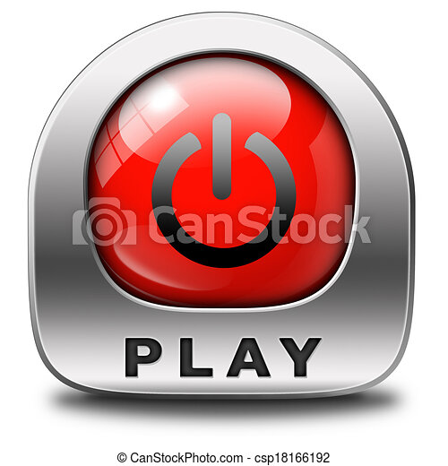stock illustration of play button play game or video