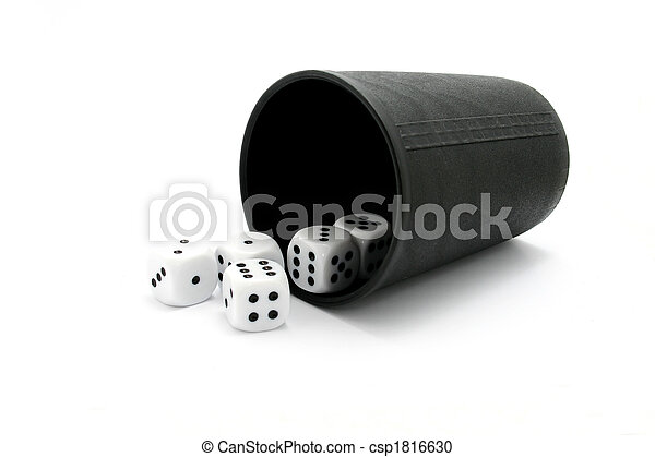 Dice with cup - csp1816630