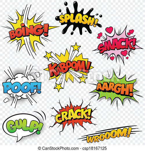 Vector Illustration of Comic Sound Effects set2 - Collection of ...