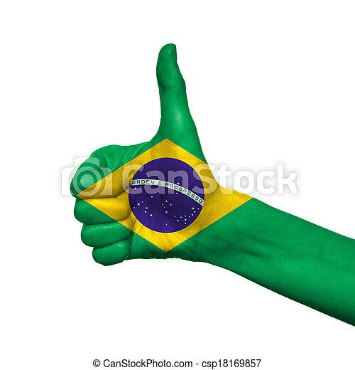 Brazil flag - csp18169857
