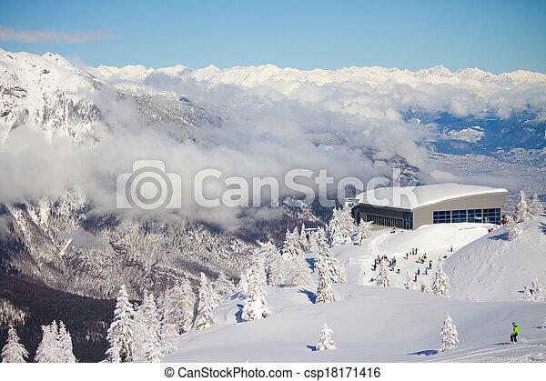 winter landscape, Paganaella, Trento, Italy